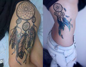 Dream catcher amulet tattoo