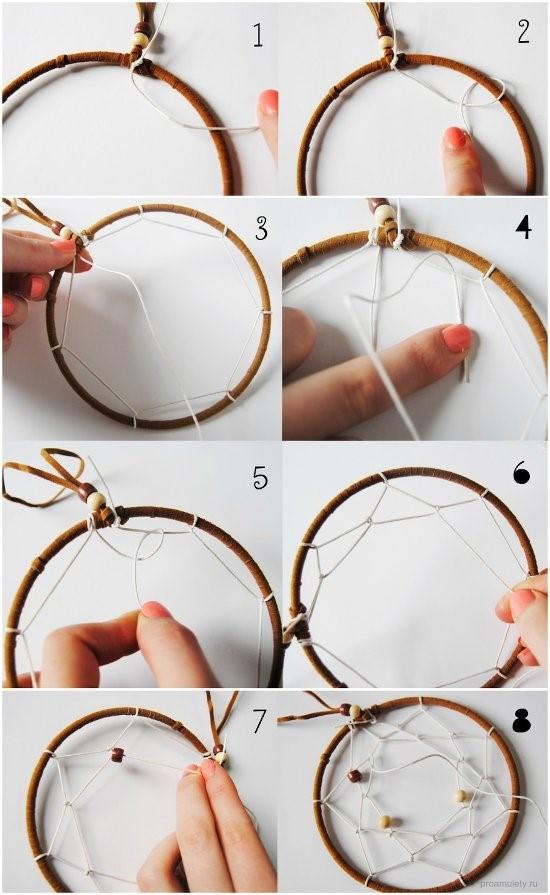 How to make a DIY Dreamcatcher Amulet