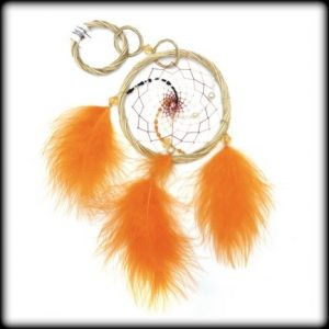 orange dream catcher