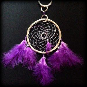Violet Color Dream Catcher Amulet