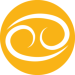 Cancer Zodiac Sign in Yellow Color