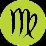 Virgo Zodiac Sign in Green Color