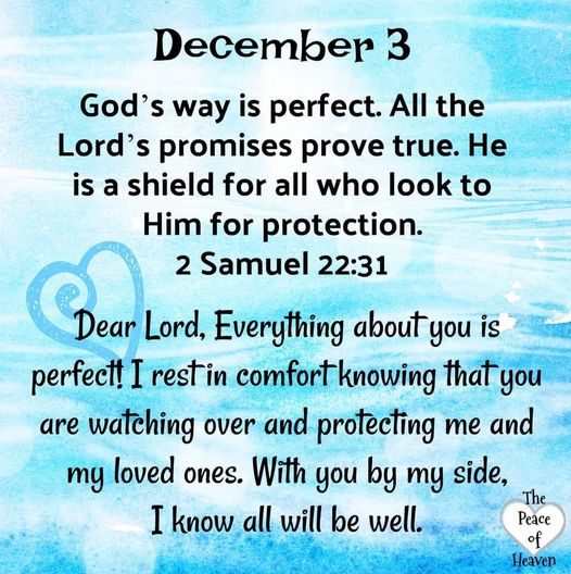 December 3 - Bible Verse of the Day