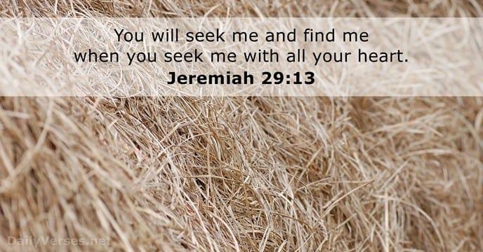 Jeremiah 29:13 - Bible Gateway verse of the day