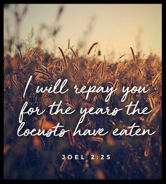 Joel 2:25 KJV - And I will restore to you the years - Bible Prayer
