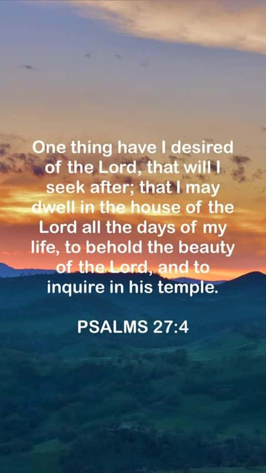 Psalms 27:4 Bible Commentary Bible Gateway verse of the day